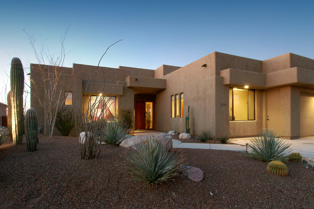 Southwest contemporary 494 for Modern adobe houses