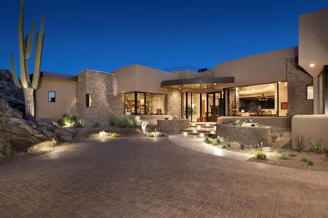 Southwest contemporary 776 southwestern exterior for Contemporary southwest home designs
