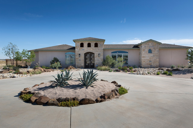 Southwest ranch transitional exterior dallas by for South west ranch