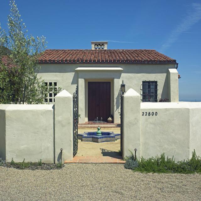 Stucco Design Ideas design ideas incredible home exterior design and decoration using cream ivory white paint for White Stucco Exterior Home Design Photos