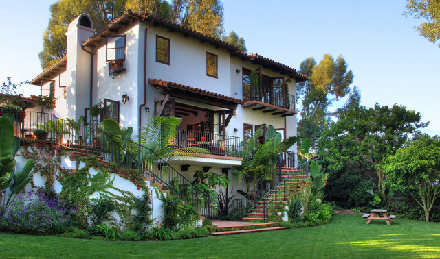 Spanish colonial revival mediterranean exterior los for Spanish colonial home designs