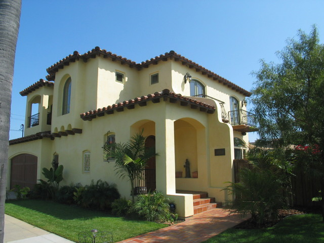 spanish colonial style homes mediterranean exterior - Colonial Design Homes