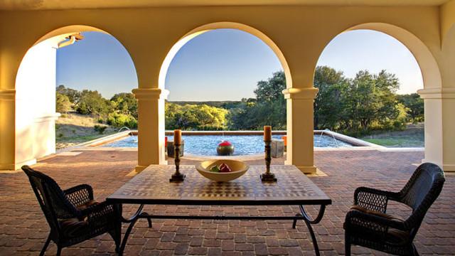 Spanish Hacienda Mediterranean Exterior Austin By