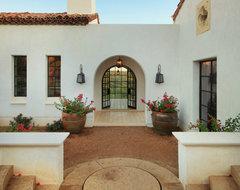 Spanish Oaks Entry mediterranean-exterior
