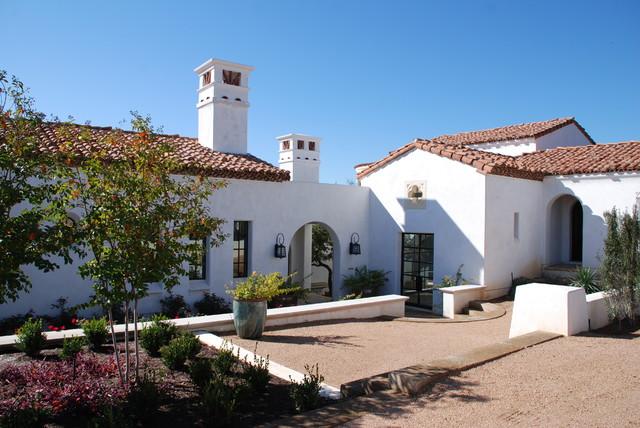 Spanish Oaks Front mediterranean-exterior