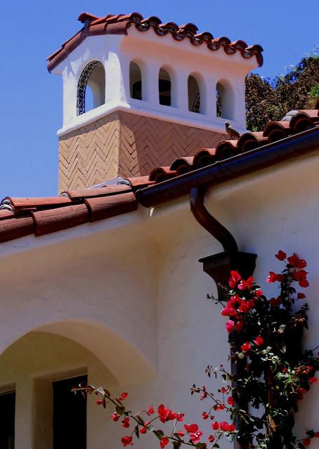 Spanish Style Chimney In Santa Barbara CA Mediterranean Exterior Santa