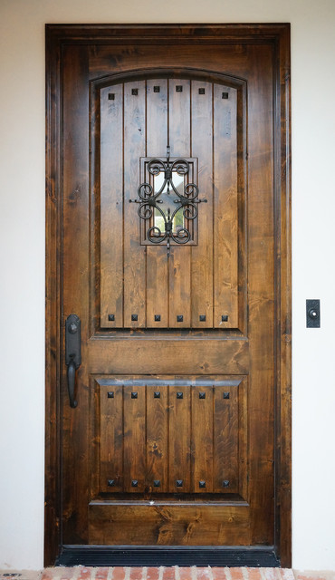 Speakeasy Wood Front Door Rustic Exterior New