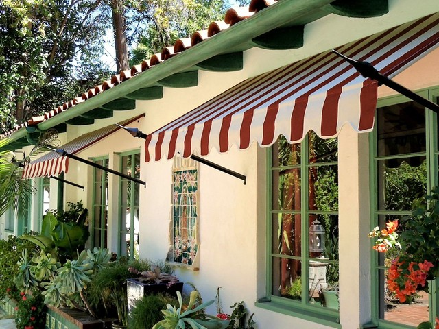 Spear Awnings Mediterranean Exterior Los Angeles