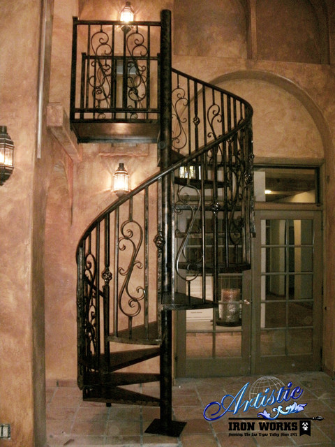 Spiral stairs contemporary exterior las vegas by - Spiral staircase wrought iron ...