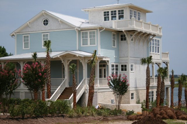 Split level coastal tropical-exterior