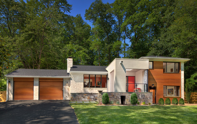 Split Level Exterior Renovation Contemporary Exterior
