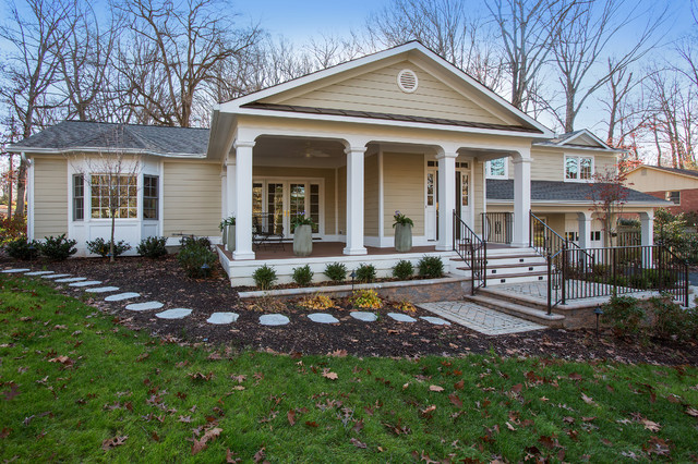 Split level home remodel in fairfax traditional for Exterior design specialists