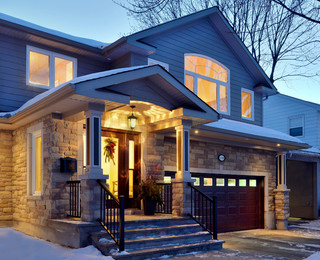 Split level transformation traditional exterior for Exterior by design ottawa