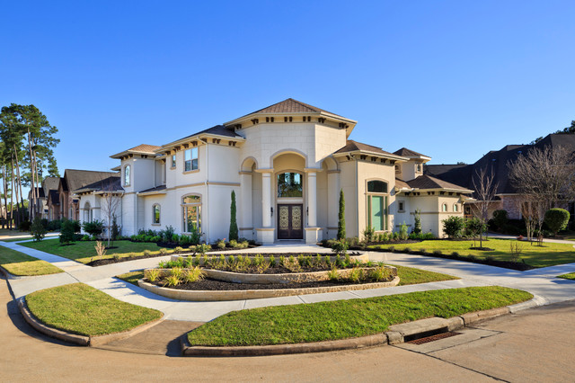 Spring custom home mediterranean exterior houston Mediterranean custom homes