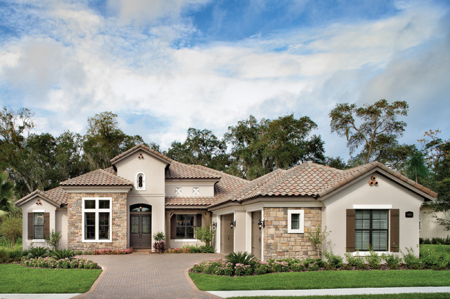 St augustine 1201 mediterranean exterior tampa by for Custom home plans florida