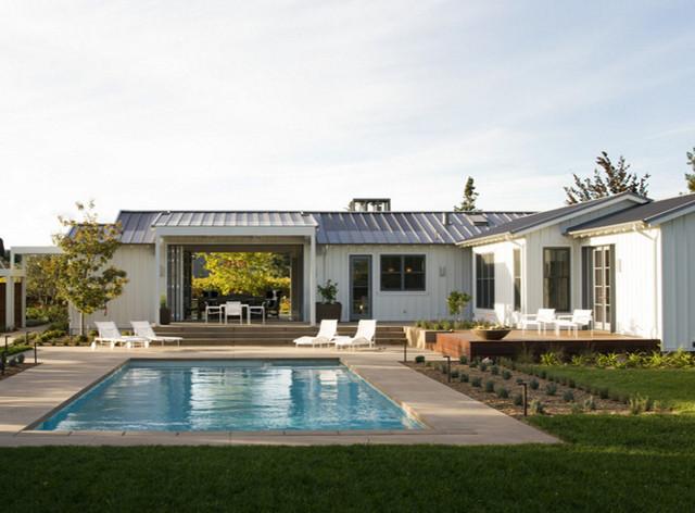 St helena farmhouse contemporary exterior san for Modern farmhouse style architecture