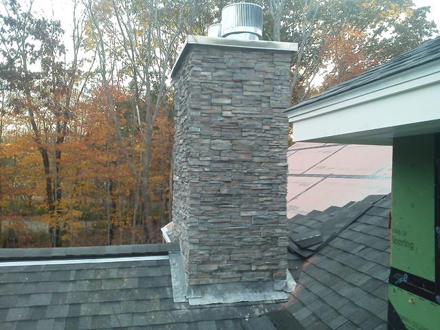 Stacked stone chimney for Stone chimneys