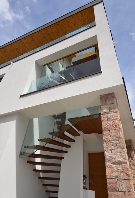 Modern exterior stairs the image kid for Stairs design outside house