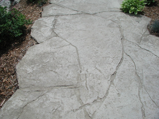 Rustic wall decor for bathroom - Stamped Concrete Modern Exterior Minneapolis By Concrete Arts