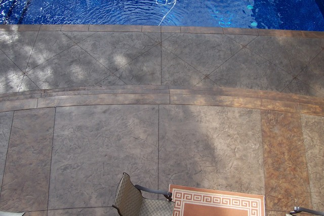 Stamped Concrete modern-exterior