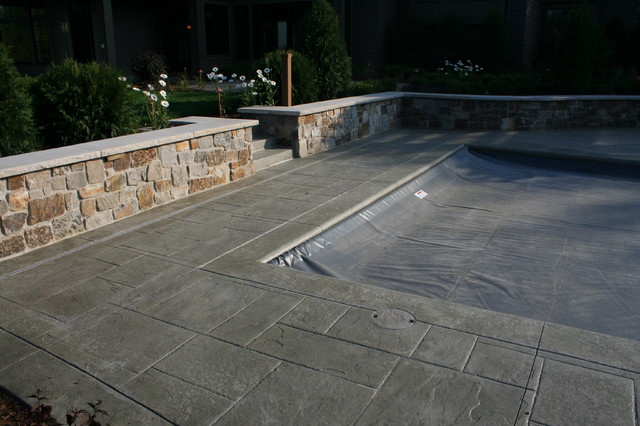 Stamped Concrete Siding : Stamped concrete modern exterior minneapolis by