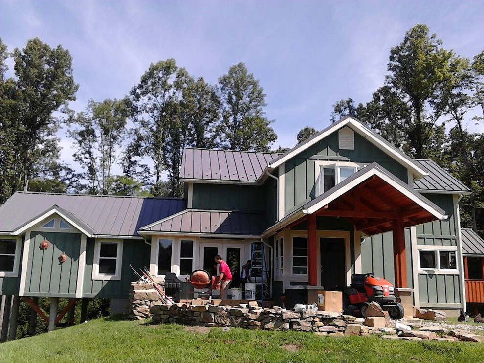 Standing Seam Metal Roofing Rustic Exterior