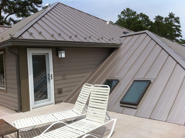 Standing Seam Metal Roofing Contemporary Exterior