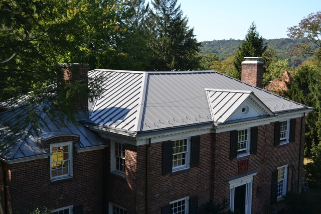 Standing Seam Metal Roofing In Slate Gray Traditional