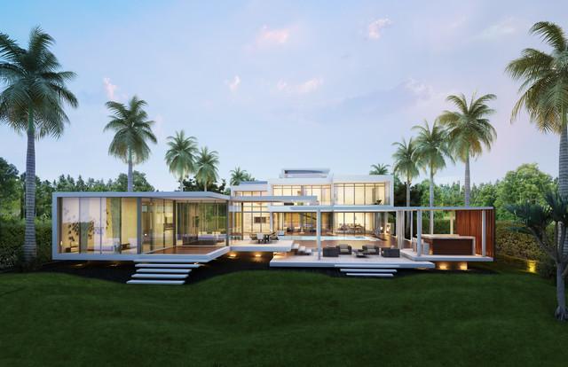 Star island moderno fachada miami de kobi karp - Residence principale de luxe kobi karp ...