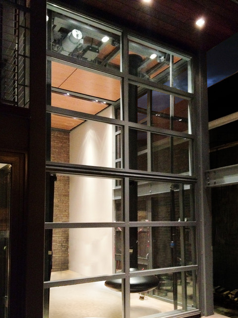 Steel Glass Bi Fold Door Close Up Contemporary Exterior Chicago By Dspace Studio Ltd