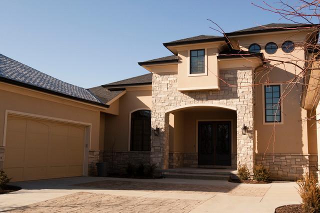 Sterling ridge custom home design mediterranean for Exterior remodel and design omaha