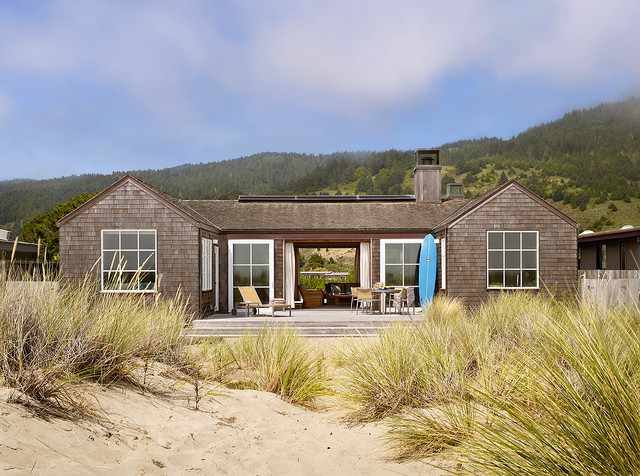 Inspiration For A Small Beach Style One Story Wood Gable Roof Remodel In  San Francisco