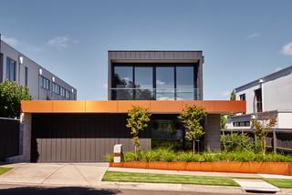 Exterior Grey House Design