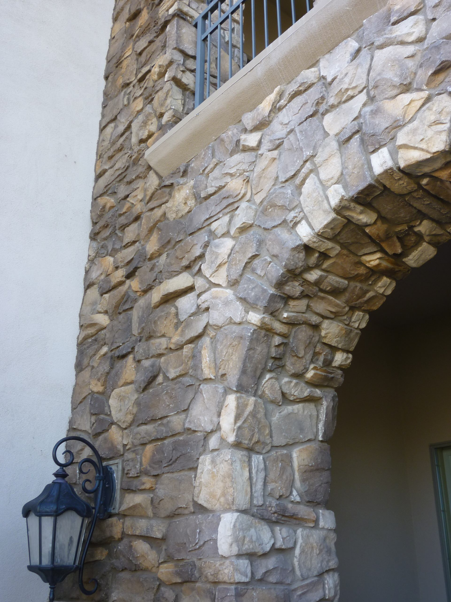 Stone Accent Added To Residence