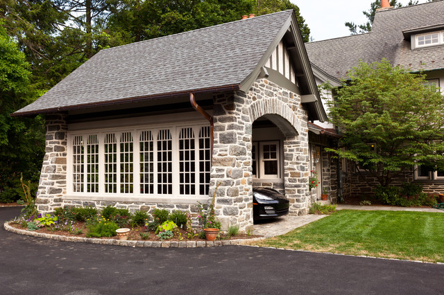 Stone addition to match existing traditional-exterior