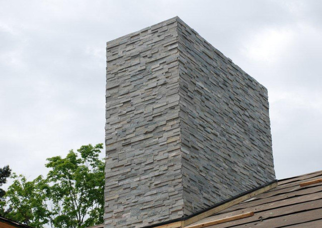 Stone Chimney Contemporary Exterior Columbus By Realstone Systems