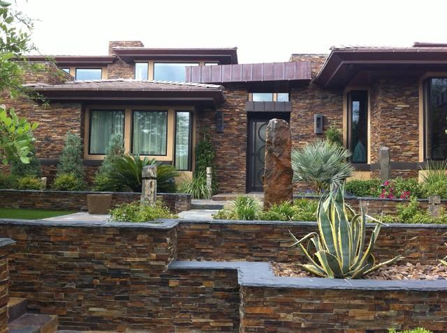 Stone cladding contemporary exterior other by - Exterior stone design ideas ...
