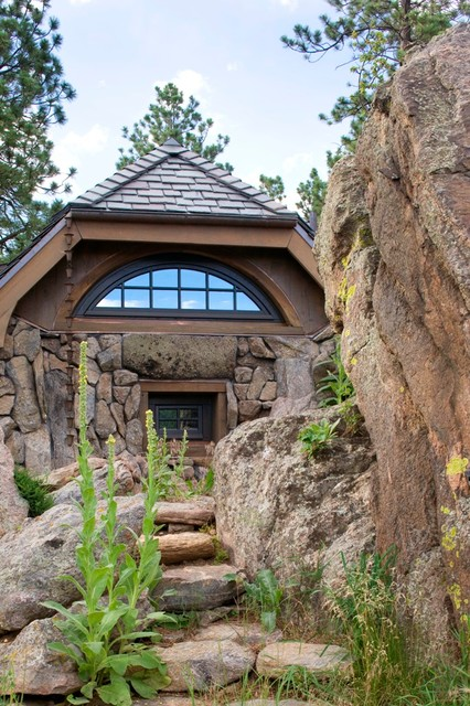 Stone Cottage Rustic Landscape Denver By Tkp