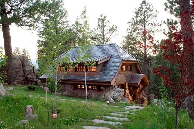 Stone cottage rustic exterior denver by tkp architects - Great hobbit home designs ...