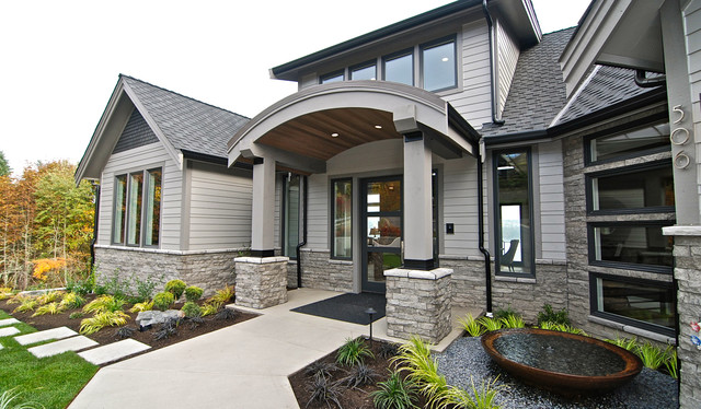 Stone Exterior Transitional Exterior Seattle By