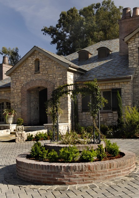 Stone Exterior With Brick Accents Traditional Exterior