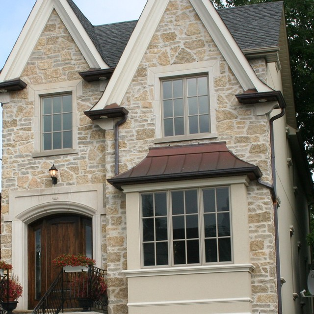 Stone Facade Exterior Toronto By Greenfield Quality Builders Inc