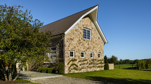 Stone Family Room Addition farmhouse-exterior