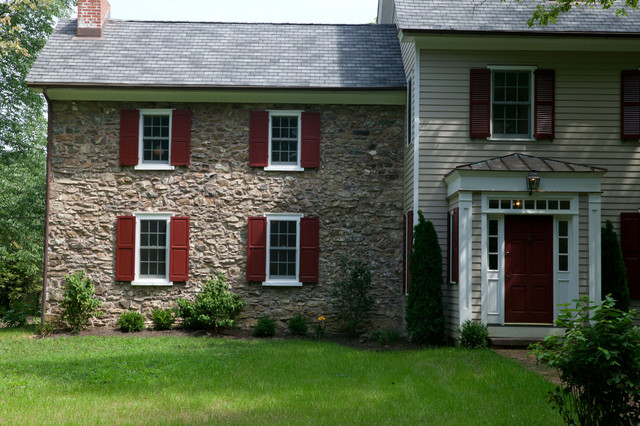 Stone Farmhouse Conversion Farmhouse Exterior philadelphia by Knight