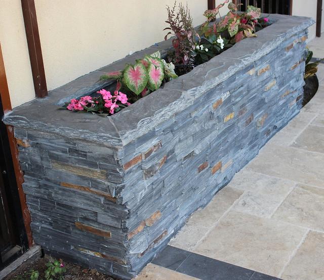 Stone Ledger Planter Box Rustic Exterior Dallas By Seconds amp Surplus Building Materials