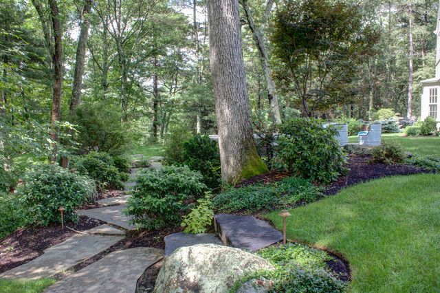 Stone Path Traditional Exterior Boston By Vin