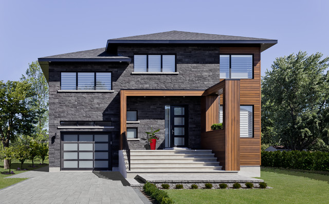 Stone Products Modern Exterior Montreal By Rinox Inc