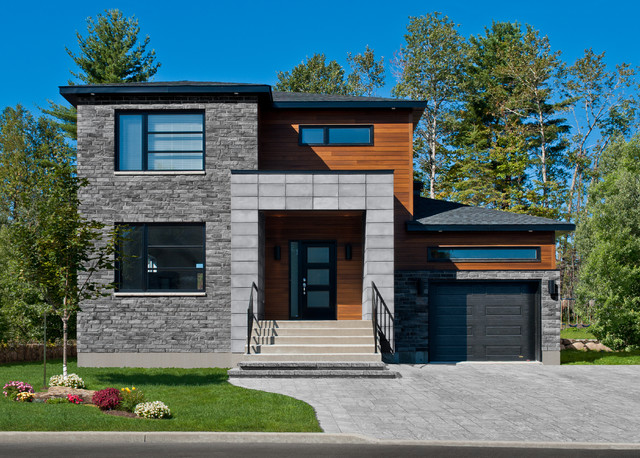 stone products contemporary exterior - Modern Home Exterior Siding