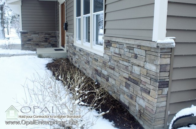 Stone Siding Vinyl Siding Installation In Naperville Traditional Exterior Other Metro