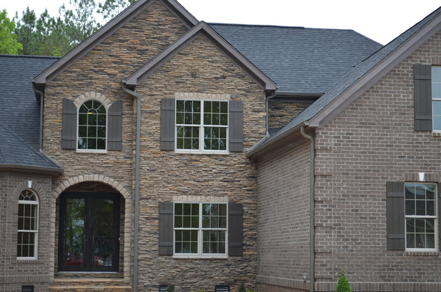 Stone Veneer Traditional Exterior Charlotte By
